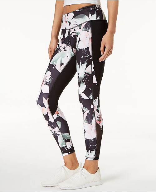3027282c5532b Ideology Floral-Print Ankle Leggings, Created for Macy's - Pants ...