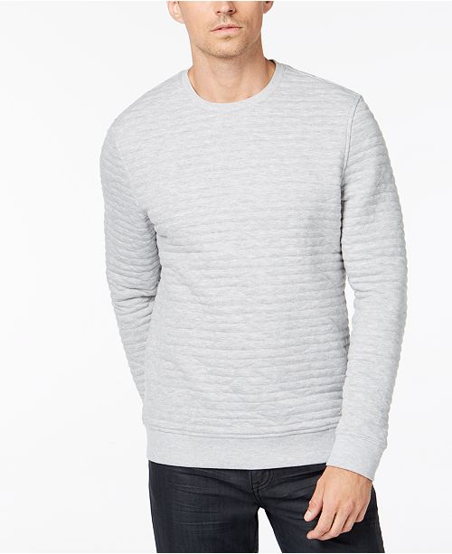 b8d4a6e063 Alfani Men's Quilted Sweatshirt, Created for Macy's & Reviews ...