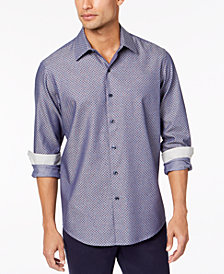Tasso Elba Men's Diamond-Print Shirt, Created for Macy's