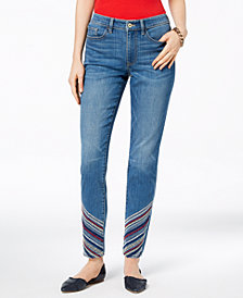 Tommy Hilfiger Embroidered Skinny Jeans, Created for Macy's