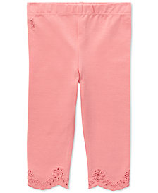 Ralph Lauren Baby Girls Scalloped Eyelet Jersey Leggings