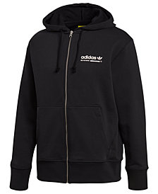 adidas Men's Kaval Logo-Graphic Fleece Zip Hoodie