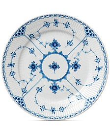 Blue Fluted Half Lace Salad Plate