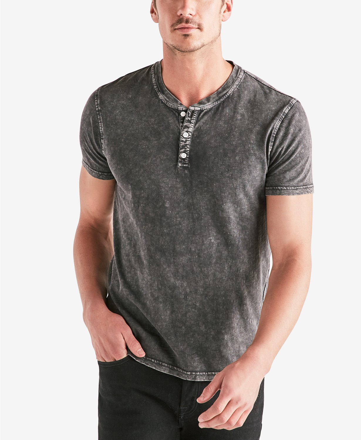 Lucky Brand Men's Stonewashed Henley