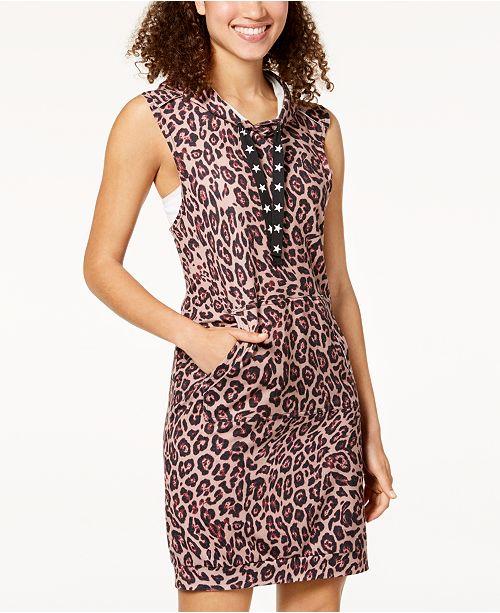 Material Girl Juniors' Crisscross-Back Hoodie Dress, Created for Macy's