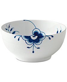 "Royal Copenhagen Blue Fluted Mega Large 9.5"" Serving Bowl"