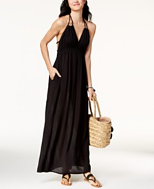 Raviya Strappy-Back Maxi Dress Cover-Up