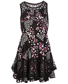 Epic Threads Little Girls Lace-Trim Dress, Created for Macy's