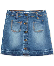 Epic Threads Big Girls Button-Front Denim Skirt, Created for Macy's