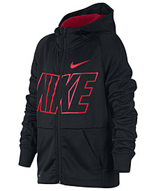 Nike Big Boys Therma Zip-Up Logo Hoodie
