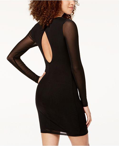 Material Girl Juniors Mesh Bodycon Dress Created For Macys