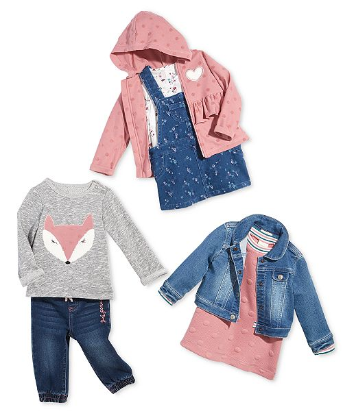 b889e490 First Impressions Baby Girls Denim Jacket, Created for Macy's ...