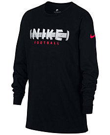 Nike Big Boys Football-Print Cotton T-Shirt