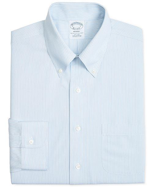 173913b3 ... Brooks Brothers Men's Regent Slim-Fit Non-Iron Polo Light Blue & Gray  Stripe ...