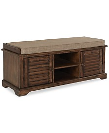 Jaelena Storage Bench, Quick Ship