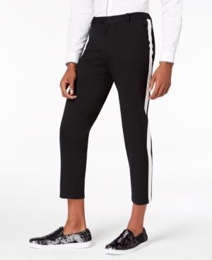 "I.n.c. Men's Slim-Fit Stretch Side Stripe Cropped Knit Pants, 28.5"" Inseam"