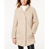 Deals on Kenneth Cole Faux-Fur Coat