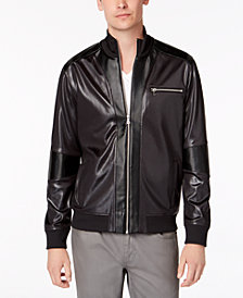 I.N.C. Men's News Jacket with Faux Leather Trim, Created for Macy's