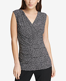 DKNY Sleeveless Ruched Top, Created for Macy's