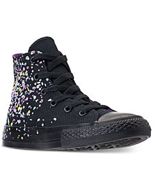Converse Girls' Chuck Taylor All Star High Top Confetti Casual Sneakers from Finish Line