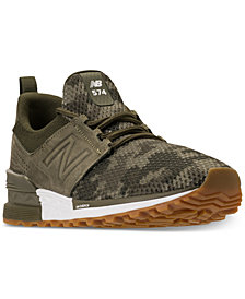 New Balance Men's 574 S Camo Casual Sneakers from Finish Line