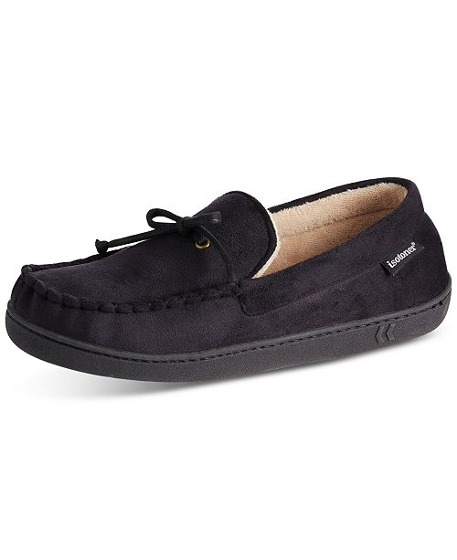 Totes Isotoner Men's Faux-Suede Moccasins With Memory Foam