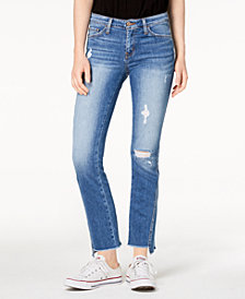 Flying Monkey Ripped Step-Hem Jeans