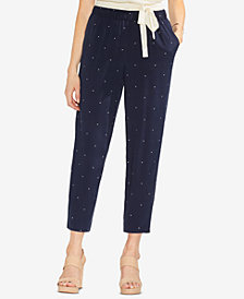 Vince Camuto Soho Pindot Pull-On Pants
