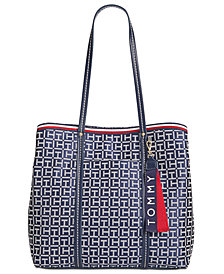 Tommy Hilfiger Roma Signature Jacquard Tote