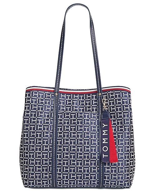 6633b4b39ce3 Tommy Hilfiger Roma Signature Jacquard Tote   Reviews ...
