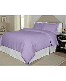 Pointehaven Printed  Full/Queen Duvet Set, 300 Thread Count Cotton Sateen