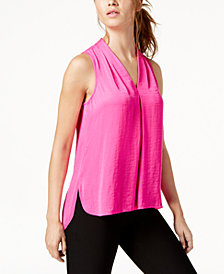 Vince Camuto Inverted-Pleat Top, Created for Macy's