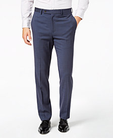 Lauren Ralph Lauren Men's Classic-Fit UltraFlex Stretch Medium Blue Windowpane Dress Pants
