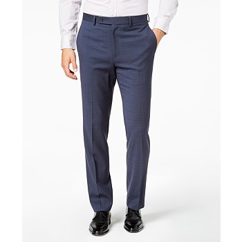 Lauren Ralph Men&#39s Ultraflex Classic/Regular Fit Plaid Dress Pants