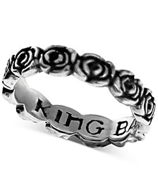 King Baby Women's Rose Band in Sterling Silver