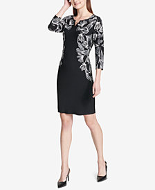 Calvin Klein Toggle-Neck Sheath Dress