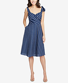 RACHEL Rachel Roy Kate Striped Faux-Wrap Dress, Created for Macy's
