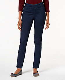 Charter Club Petite Pull-On Ankle Jeans, Created for Macy's