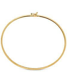 Oval Flex Bangle Bracelet in 10k Gold