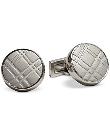 Men's Plaid-Textured Cuff Links, Created for Macy's