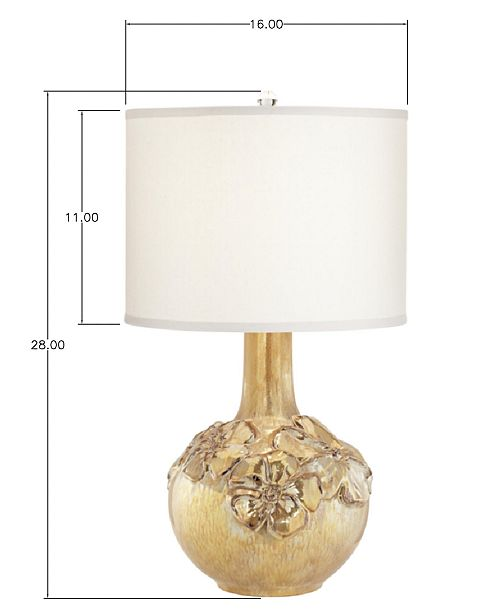 Pacific Coast Poppy Floral Vase Table Lamp Lighting Lamps Home