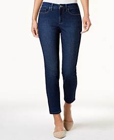 Petite Dark Wash Tummy Control Skinny Jeans, Created for Macy's