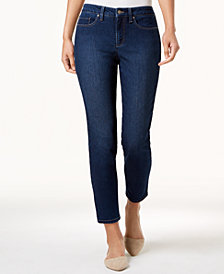 Charter Club Petite Dark Wash Tummy Control Skinny Jeans, Created for Macy's