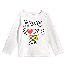 First Impressions Toddler Girls Awesome-Print Cotton T-Shirt, Created for Macy's