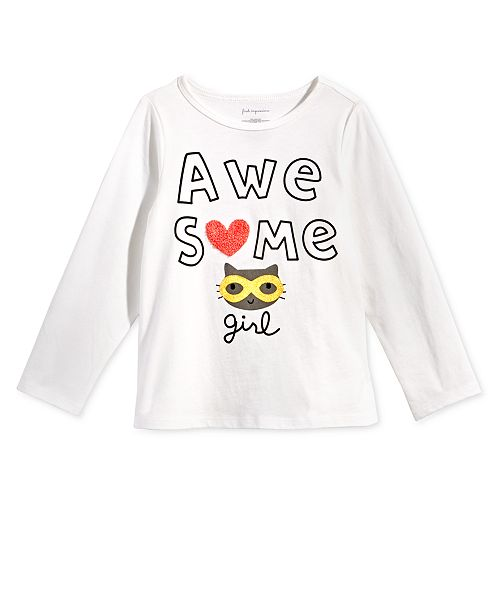 12dfbb5a1 First Impressions Baby Girls Awesome-Print Cotton T-Shirt