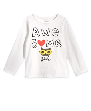 First Impressions Baby Girls AwesomePrint Cotton TShirt Created for Macys