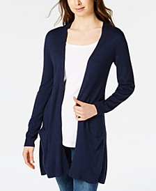 Long Open-Front Jersey Cardigan Sweater, Created for Macy's