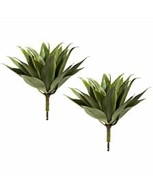 """2-Pc. 17"""" Agave Succulent Artificial Plant Set"""