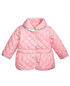 First Impressions Baby Girls Quilted Barn Jacket, Created for Macy's