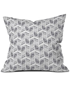Little Arrow Design Co Watercolor Feather in Grey Throw Pillow